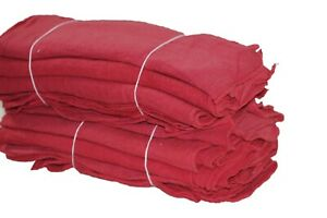 500 Pieces White Bleached Cotton Shop Towel Rags industrial Grade new Wipers