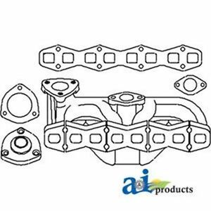 1046679m1 Exhaust Manifold Fits Massey Ferguson Te20 To20 To30 To35 135 35