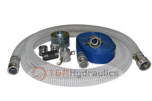 1 1 2 Flex Water Suction Hose Trash Pump Honda Complete Kit W 50 Blue Disc