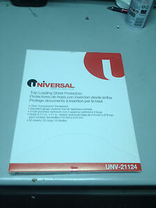 Universal Top load Poly Sheet Protectors