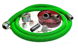 1 1 2 Epdm Water Suction Hose Honda Complete Kit W 25 Red Discharge Hose