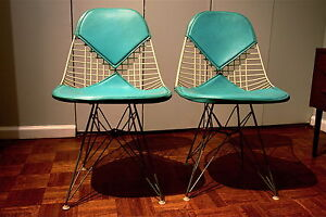 One Pair Of Vintage Eames Bikini Chairs