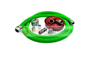 2 Epdm Water Suction Hose Honda Kit W 75 Red Discharge Hose