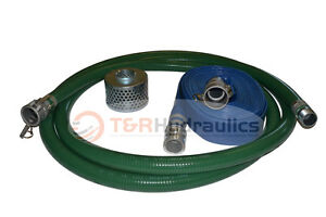 2 Green Fcam X Mp Water Suction Hose Kit W 75 Blue Discharge Hose