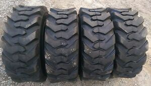 4 New 14 17 5 Skid Steer Tires 14x17 5 14 Ply Rating 8500 Pound Load Range