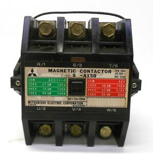 Mitsubishi Electric Corporation Magnetic Contactor Type S a150 100 110v