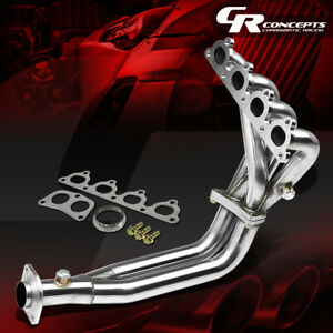Stainless Steel 4 2 1 2 Pc Exhaust Header Manifold Sohc D15 D16 Civic Crx Delsol