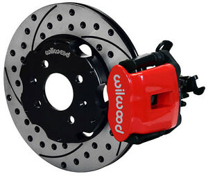 Wilwood Disc Brake Kit rear honda Civic 10210 11 Drilled Rotors red Calipers