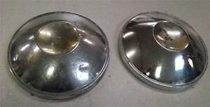 2 Hub Caps For Your Rat Rod Project 1960 s Vintage pics Scroll