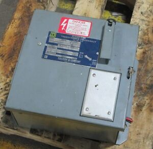 Square D 9070 Sk5271r F31 Ser A Transformer Disconnect 200 250 Va 230 130 115 V