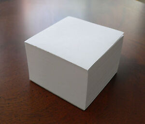 Blank Note Paper Cubes 12 Total Cubes Glued On 1 Side 3 1 2 X 3 1 2