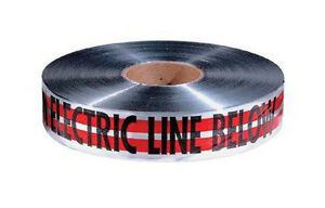 Empire 31 107 Safety Tape caution Electric Line Below 1000 4 Magnetic Tapes