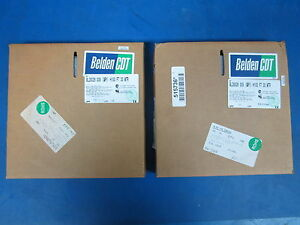 Lot Of 2 Belden 100ft 26 Connector 28awg Flat Cable gry 9l28026 New