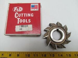 F d Tool Co Hs m2 3 1 2x3 4x1 1 4 1 4 Keyway Straight 10 Tooth Milling Cutter