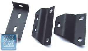 1966 67 Chevelle Manual Transmission Console Mounting Bracket Set 3 Pieces