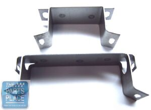1964 65 Chevelle Automatic Transmission Console Mounting Bracket Set 2 Pieces
