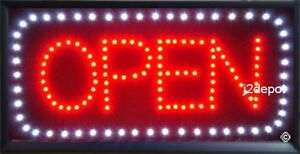 Us Seller All Letters Animated Led Open Sign Animation On off Switch Chain