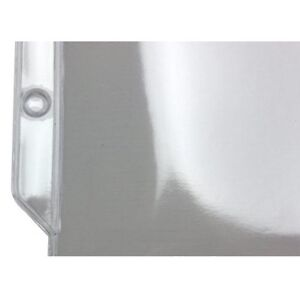 New 4 1 4 X 6 3 8 Crystal Clear 3 hole Punched Sheet Protectors