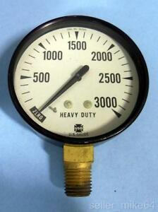 Us Gauge 36565 Heavy Duty Pressure Gauge 0 3000 Psi 1 4 Npt Bottom 2 3 4 Dia