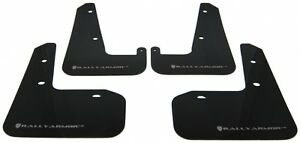 Rally Armor Black Ur Mud Flaps Silver Logo For 08 14 Sti 11 14 Wrx Hatchback