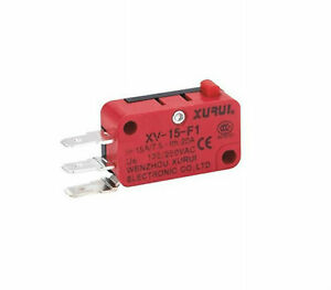1 Xv 15 f1 Miniature Micro Switch Pin Plunger Type 15a Ip 40 Side Terminal