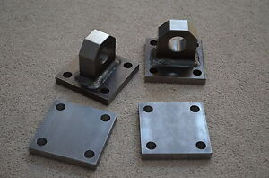 Welded Shackle Mounts Bumper Winch D ring Bolt Plates With Backing Plates
