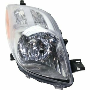 Halogen Headlight For 2007 2008 Toyota Yaris Hatchback Right