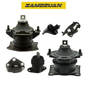 Engine Motor Trans Mount Set 6pcs Hydraulic For 04 06 Acura Tl 3 2l For Auto