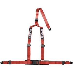 Sparco 2 Inch 2 3 Point Bolt In Seat Belt Harness Red