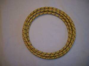 7mm Cloth Sparkplug Wire Yellow W Red And Black 5 Ft