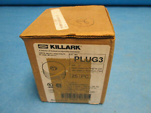 Killark Plug 3 Conduit Fitting Size 1 new In Box Of 27