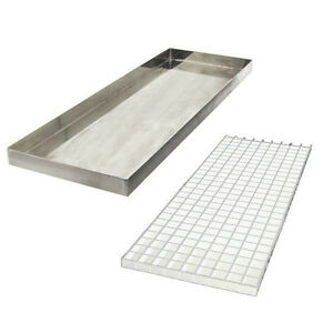 23 7 8 Countertop Drip Tray Stainless Steel No Drain Bar Draft Beer Spill