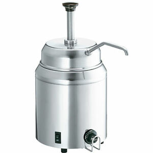 Syrup And Fudge Food Server With Pump Dispenser