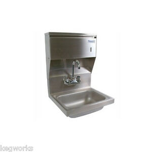 Wall Mount Hand Sink W towel Dispenser stainless Steel