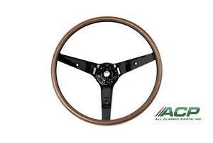 1969 Mustang Woodgrain Steering Wheel Fits Mach 1 And Deluxe Free Shipping Look