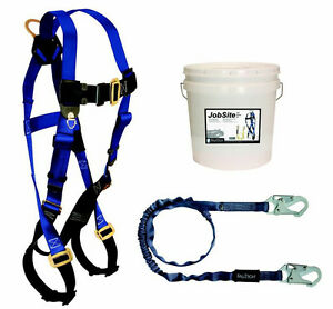 Falltech 9500z Starter Kit Includes Harness Lanyard With Snap Hooks