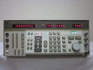 Hp Agilent 8663a 100 Khz To 2 5 Ghz Synthesized Signal Generator W Opt 002