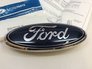 Ford Flex Taurus X Edge Front Grille Chrome And Blue Oval Emblem Oem Bt4z 8213 a