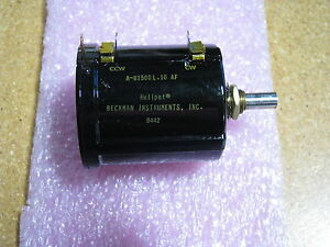 Beckman Instruments Variable Resistor A r1500l 10af Nsn 5905 01 176 5536