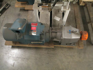 Reliance Electric Motor With Gear Reducer 30hp 460vac Ratio 5 6 Rpm 313