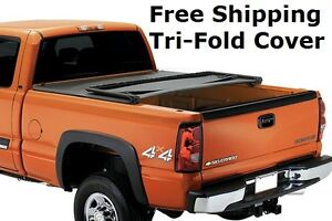 Tonneau New Trifold Vinyl Tonno Truck Cover Folding 2007 2013 Gmc Sierra 5 8 Bed