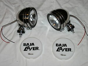 Chrome Steel 5 Baja Kc Style Off Road Lights 100w Truck Jeep White Covers
