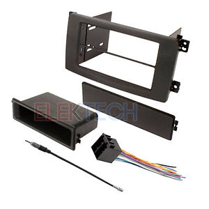 Radio Replacement Dash Kit Single Din W Pocket Harness For Smart Fortwo