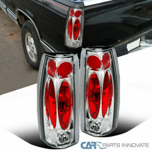 88 98 Chevy Gmc C K C10 Silverado Blazer Tahoe Tail Lights Rear Lamps Clear Pair
