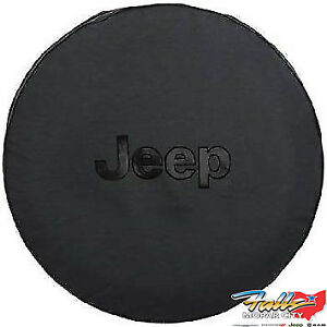 2007 2018 Jeep Wrangler Liberty Black Spare Tire Cover With Black Jeep Logo Oem
