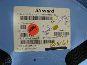 Steward 1612 Emi Ferrite Chip Beads Dm1612x560r 00 1550 Pc Partial Reel