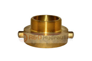 Fire Hydrant Brass Adapter 2 1 2 Nst f X 3 Npt m