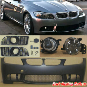 M3 Style Front Bumper Glass Projector Fog Fit 09 11 Bmw E90 E91 4dr 3 series
