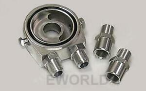 New Oil Cooler Kit Billet Plate And Fittings Universal Honda Subura Chevy Ford