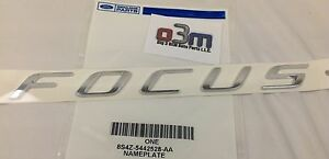 2008 2011 Ford Focus Rear Chrome Focus Nameplate Emblem Oem 8s4z 5442528 Aa